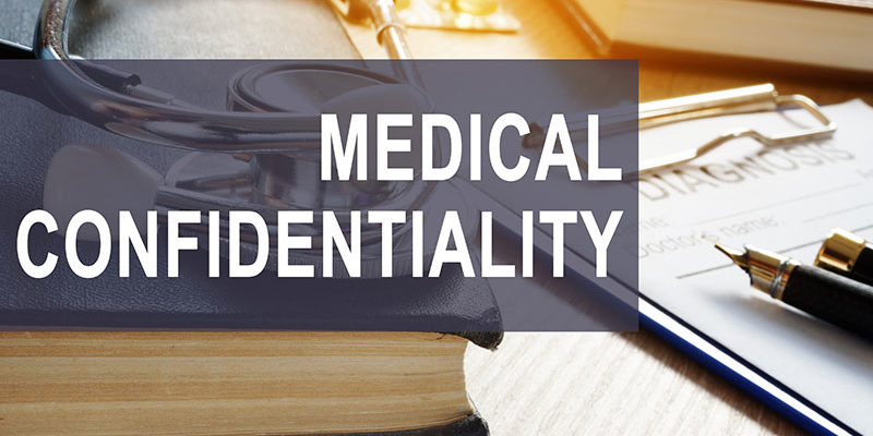 Medical record confidentiality graphic